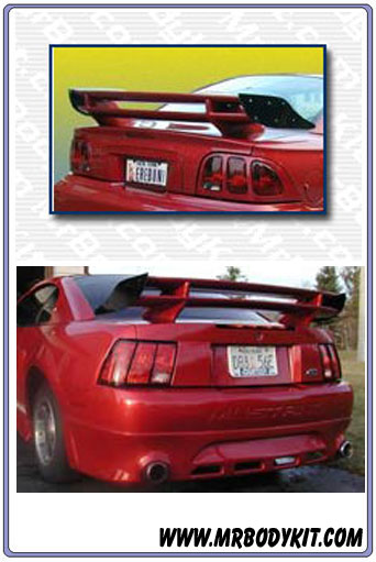 1999-2004 Mustang Double Stack S-Style Wing